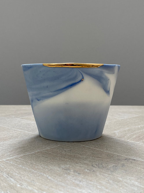 Porcelain and gold decorative pot by Ana Bridgewater