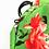 Thumbnail: FLOWER MOOD Рюкзак в цветах зеленый-фуксия