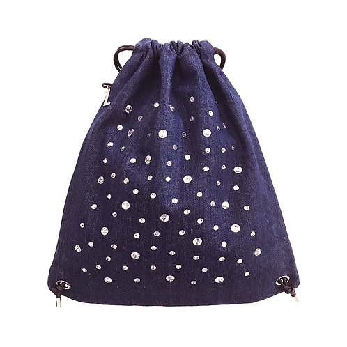 DARK BLUE DENIM CRYSTALS Backpack