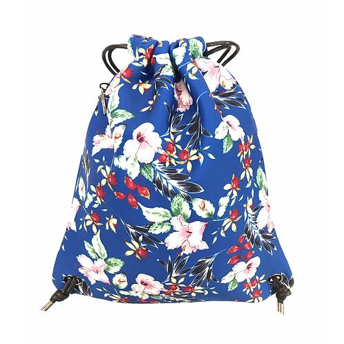 FLOWER MOOD Backpack flower blu