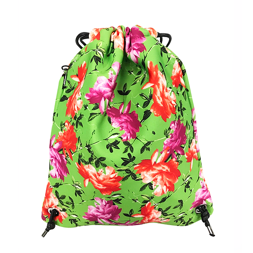 FLOWER MOOD Backpack flower verde-fuxia