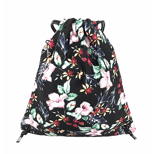 FLOWER MOOD Backpack flower nero