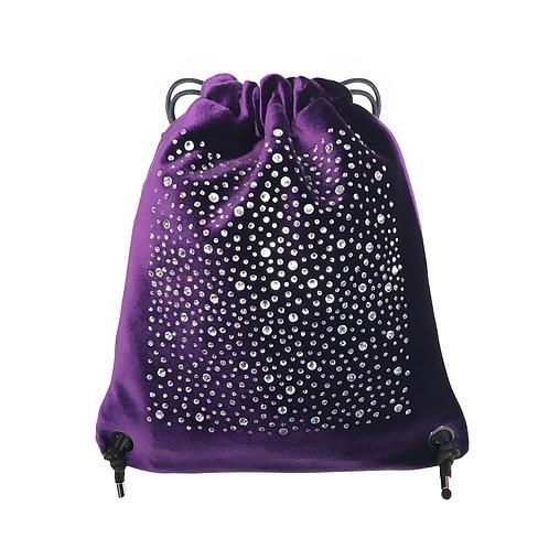 VELVET CRYSTALS Backpack purple
