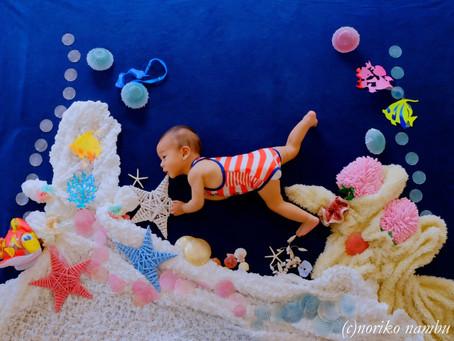 6月おひるねアート撮影会「珊瑚の海」&「七夕」@横浜綱島・川崎