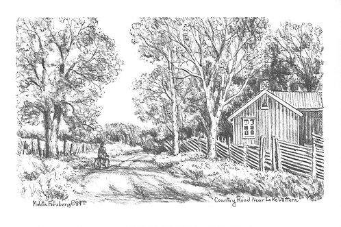 Country Road Near Lake Vattern