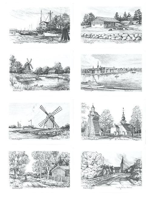 Swedish Print Collection (8 Prints)