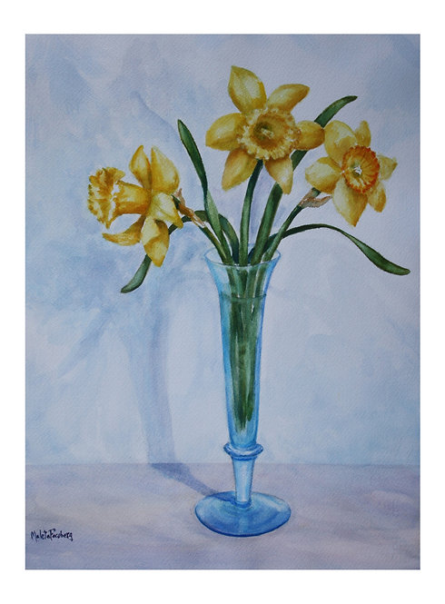Swedish Blue Vase