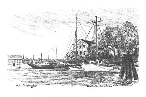 Boats - Stockholm Harbor