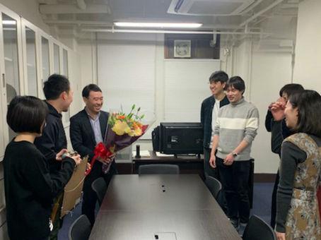 朝日賞のお祝い// surprise ceremony for Asahi Prize