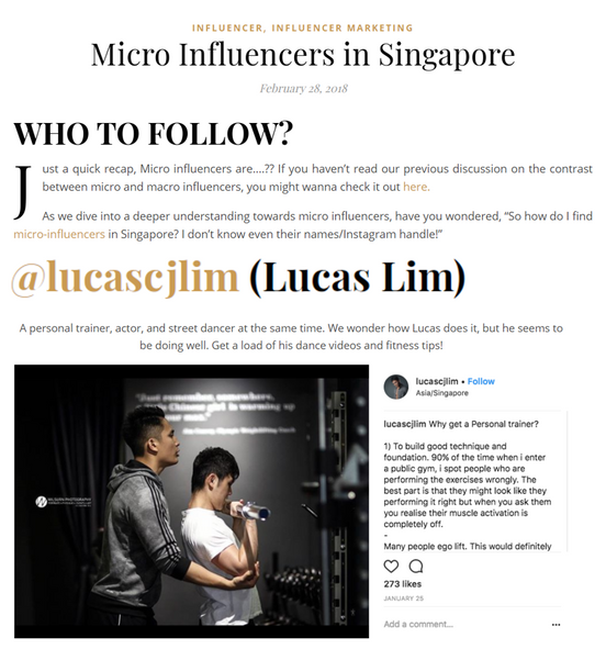 Influencer Marketing Singapore