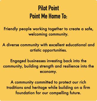 Pilot Point Adopts Vision Statement & Guiding Principles