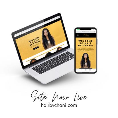 Hair By Chani Website Mockup Macbook iPhone