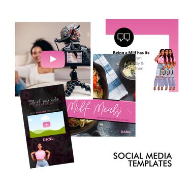 Milf Influencer - Personal Brand Social Media Templates