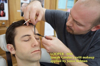 LOOPER (2012) Prosthetic Makeup Application on Joseph Gordon-Levitt by Jamie Kelman for Makeup Designer Kazu Tsuji