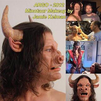 ARGO (2012) John Chambers style Minotaur makeup by Jamie Kelman