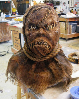 GOOSEBUMPS THE MOVIE (2015) Scarecrow Mask Fabricated by Jamie Kelman for Steve Prouty's Fusion FX
