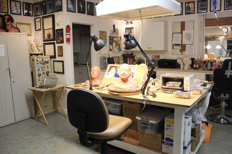 KELMAN STUDIO during pre-production makeup tests for WONDER (2015)