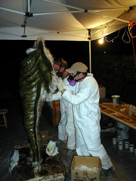 Tim Considine and Jamie Kelman Molding the Creature Suit for HEADSPACE (2005)