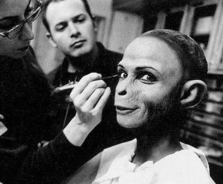 PLANET OF THE APES (2001) Ape Makeup on Lisa Marie by Toni G and Jamie Kelman for Rick Baker
