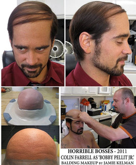 HORRIBLE BOSSES (2011) Makeup Design & Application for Colin Farrell by Jamie Kelman
