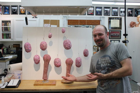 Various testicles and scrotums for the Steel Panther music video PUSSY WHIPPED
