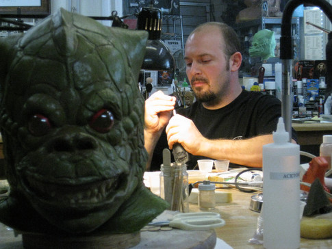 Re-creating Bossk, the bounty hunter from EMPIRE STRIKES BACK