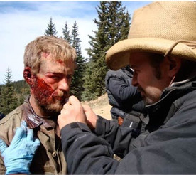 LONE SURVIVOR (2013) Makeup for Ben Foster by Jamie Kelman, for KNB EFX