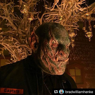 BRIGHT (2017) Dorghu Orc makeup application by Jamie Kelman. Design by ADI/CNelsonFX