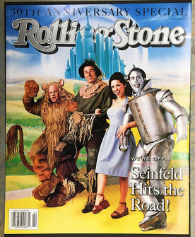 Rolling Stone 'Seinfeld' Magazine Cover shoot - Cowardly Lion Jason Alexander makeup applied by Jamie Kelman for Tim Considine's Direct FX