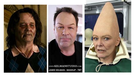 Original SNL 'Not Ready for Primetime' players in Makeups by Jamie Kelman & co.