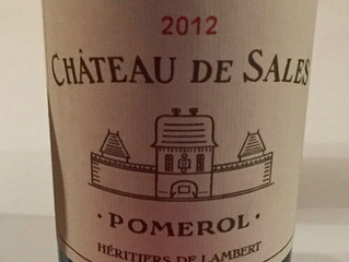 Wine from last week: 2012 Châteaux de Sales, Pomerol