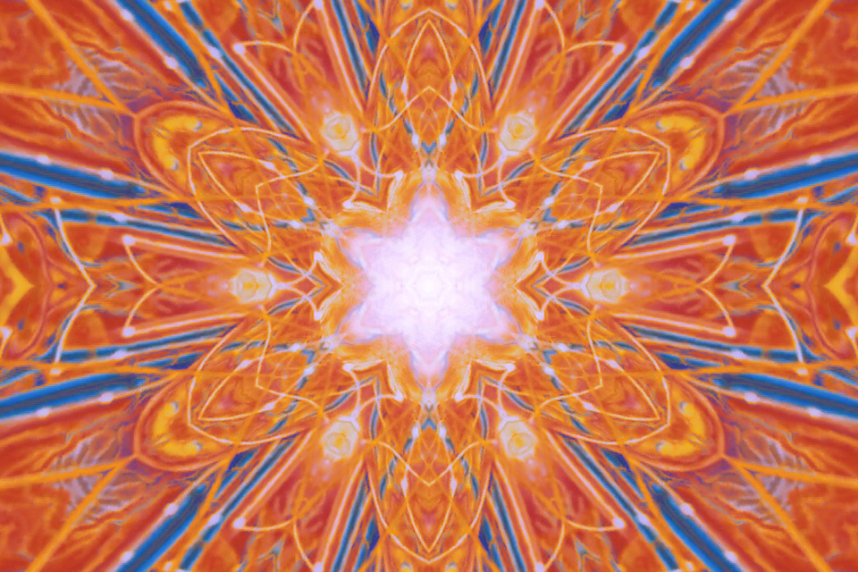 Kaleido vision  feat Alex Grey paint