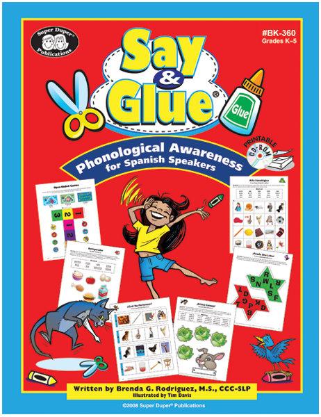 Say & Glue® Libro y CD-ROM Concientización fonológica