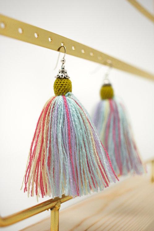 Lime Tassel Earrings