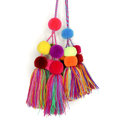 Set of 2 Colorful Pompons