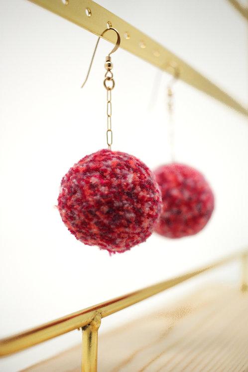 Pink Cherry Earrings