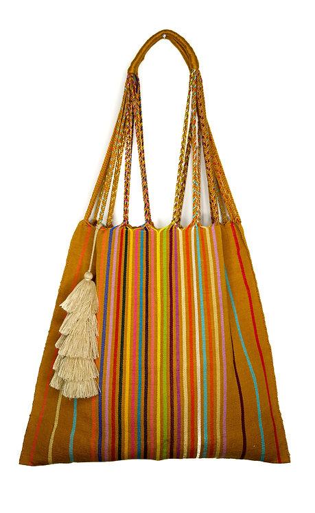 Sprinkle Tote Bag & Beige Tassel