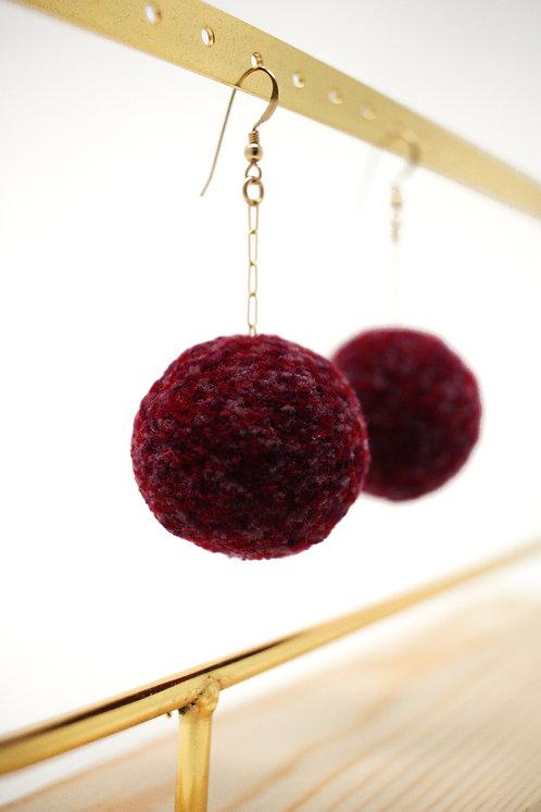 Wine Cherry Earrings