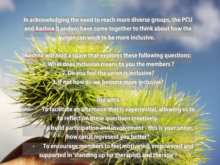 PCU & AASHNA - Standing Up For Therapists and Therapy