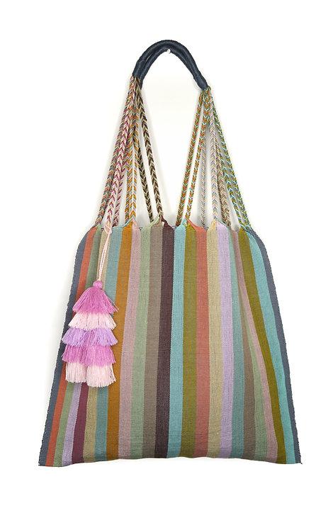 Mint Tote Bag & Purple Tassel