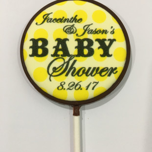 Chocolate Lollipop with Edible Image