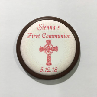 Chocolate Coin with Edible Image - Sienn