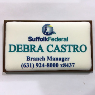 Chocolate Business Card with Edible Imag