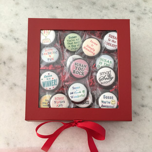 Box of Chocolate Coins with Edible Image