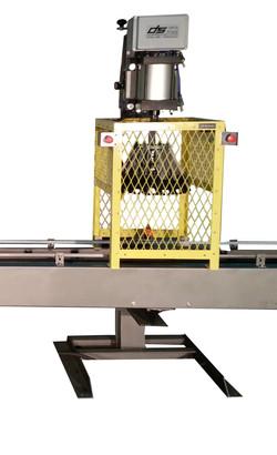 Lid crimper for material handling