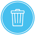 Hot tub disposal icon