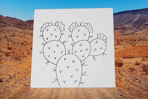 "Cactus Tile 6""X6"""