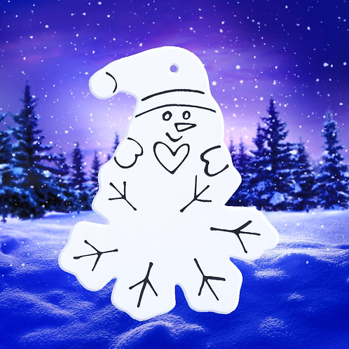 Snowman Hitchin' A Ride On A Snowflake!