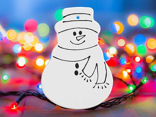 Snowman Just Chillin'