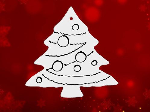 Christmas Tree With Ornament Balls
